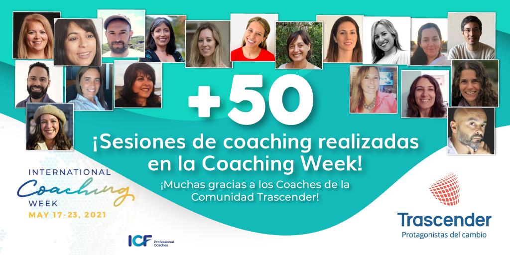 La Comunidad Trascender realizó +50 sesiones de coaching gratis